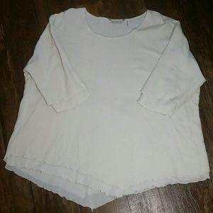 Soft surrondings top 100% cotton large